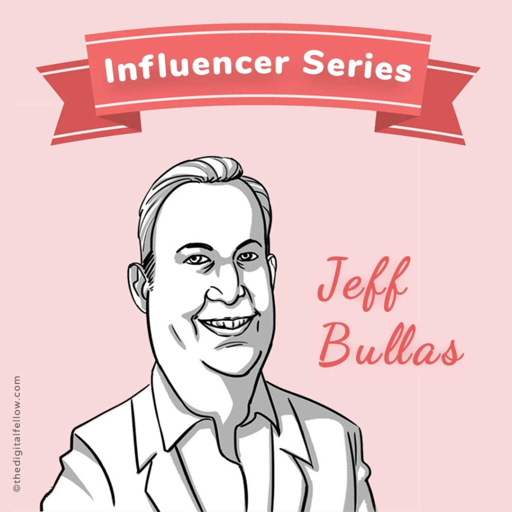 This is the caricature of Jeff-Bullas curated by thedigitalfellow