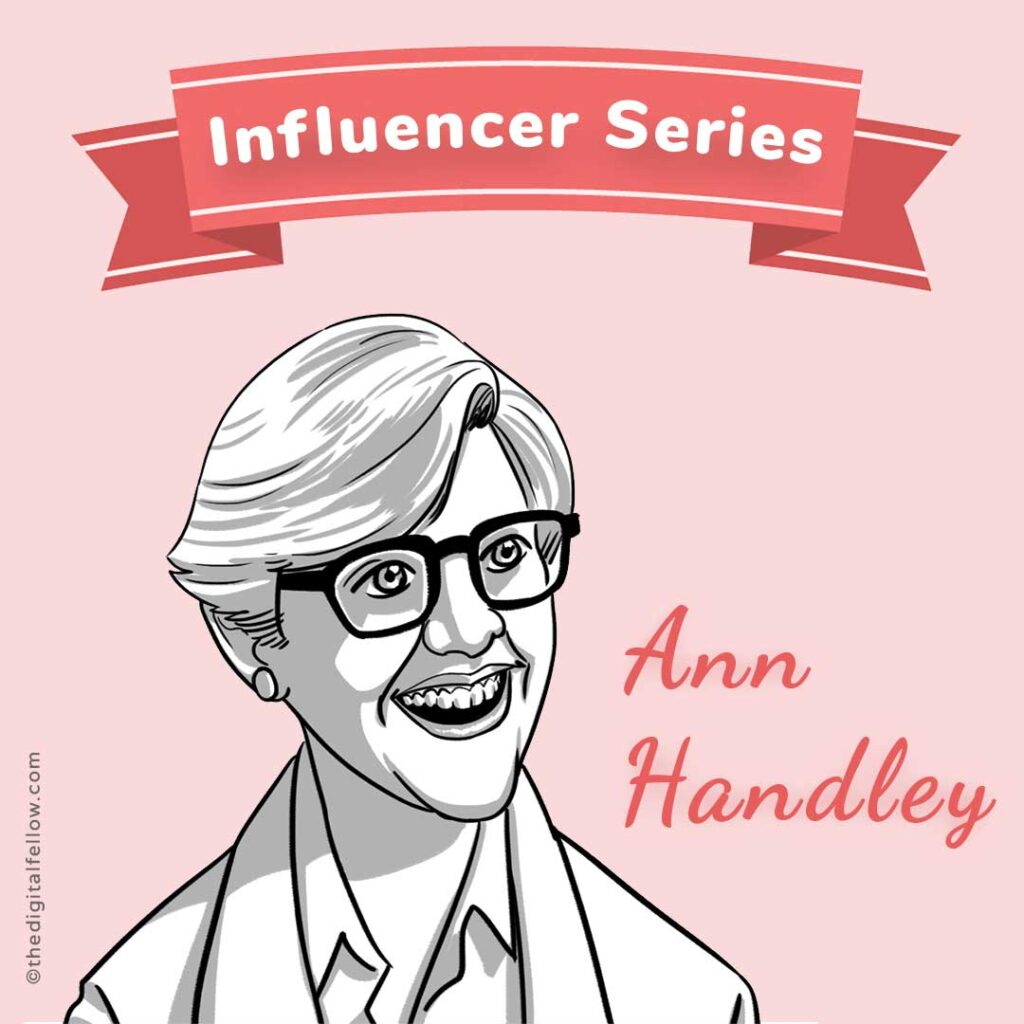 This is the caricature of  Ann Handley curated by thedigitalfellow