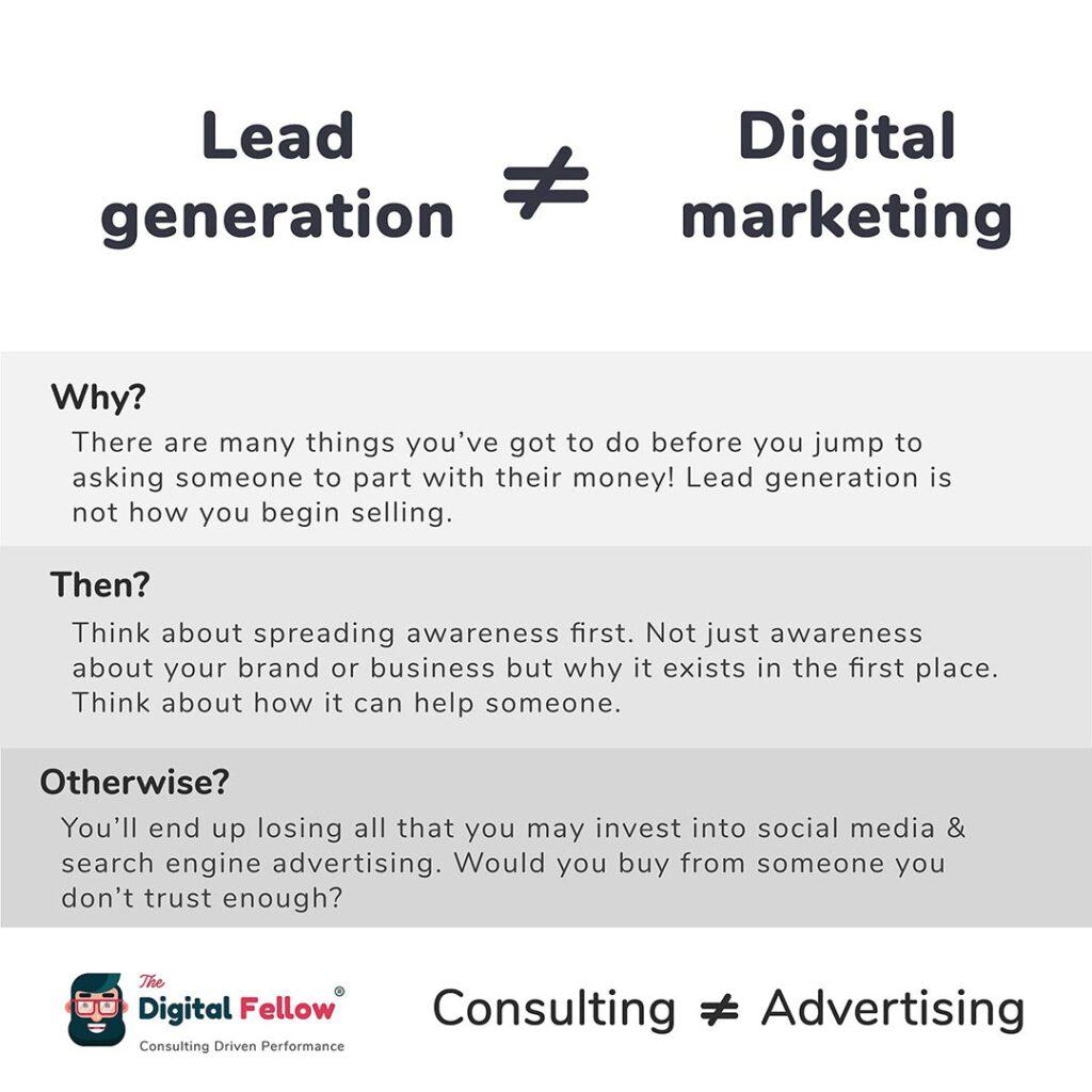 Lead Generation vs Digital Marketing by thedigitalfellow