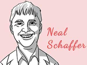 This is the caricature of Neal Schaffer curated by thedigitalfellow