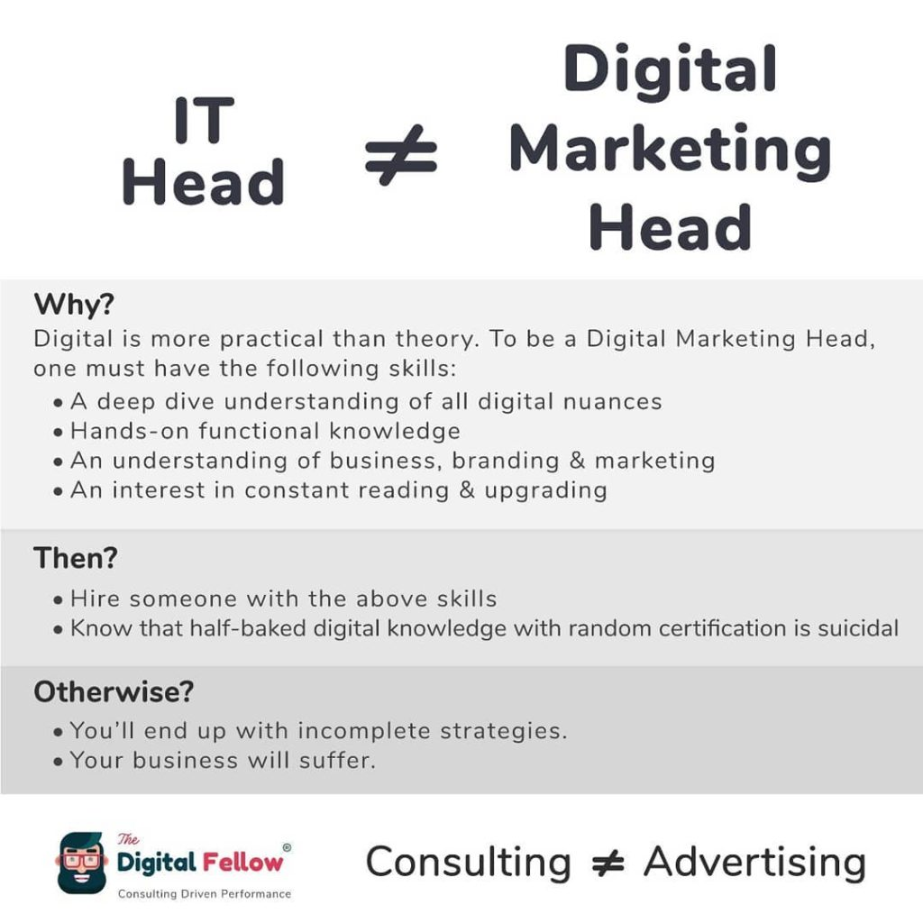 It head not equals Digital Marketing head by TheeDigitalfellow