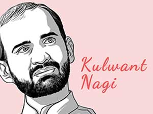 This is the caricature of Kulwant Nagi curated by thedigitalfellow