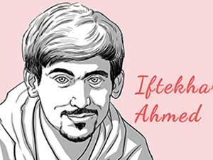 This is the caricature of Iftekhar Ahmed curated by thedigitalfellow