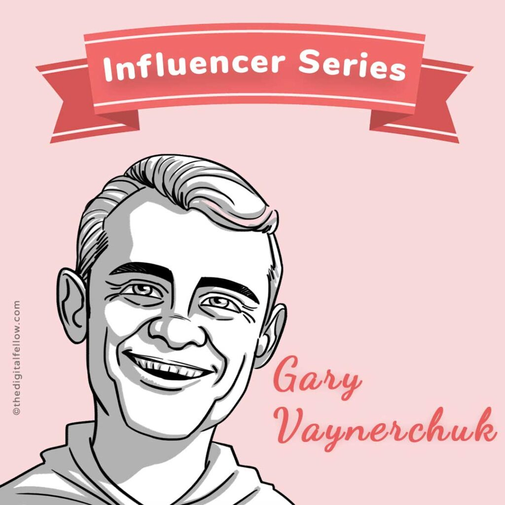 This is the caricature of Gary Vaynerchuk curated by thedigitalfellow