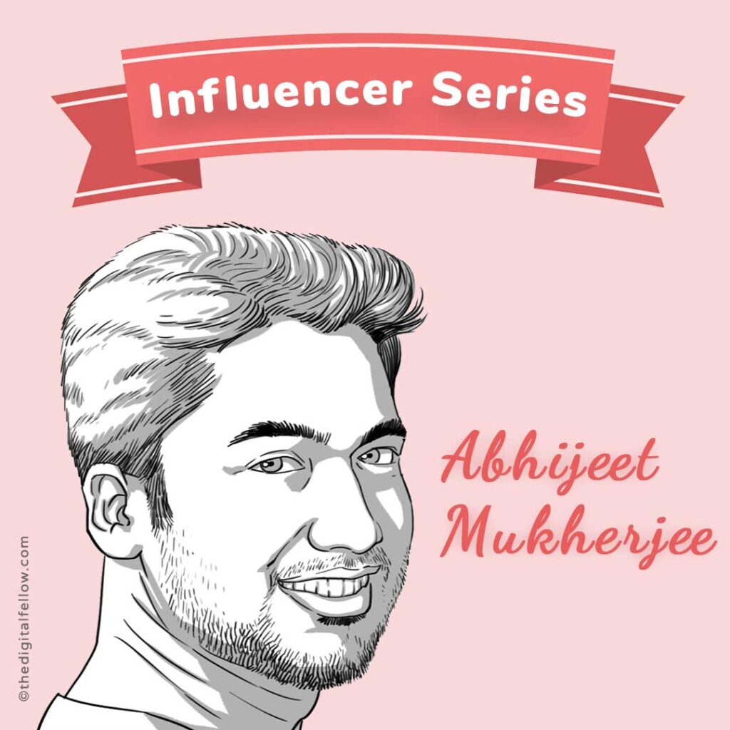 This is the caricature of  Abhijeet Mukherjee curated by thedigitalfellow