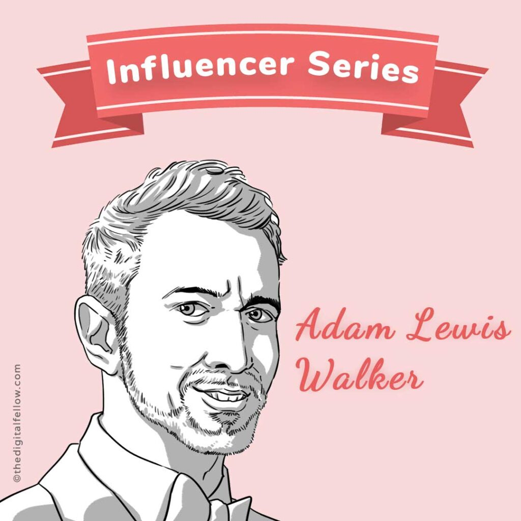 This is the caricature of Adam Lewis Walker curated by thedigitalfellow