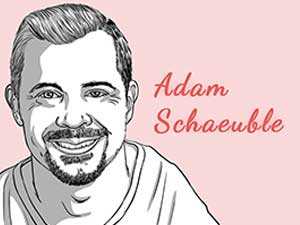 This is the caricature of Adam Schaeuble curated by thedigitalfellow