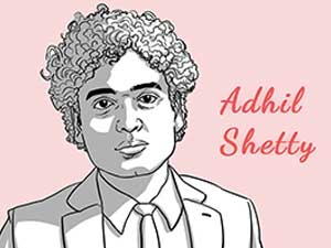 This is the caricature of Adhil Shetty curated by thedigitalfellow