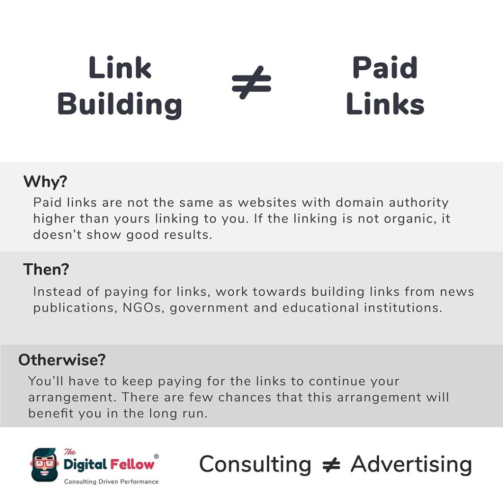 Link Building is not equal to Paid Links