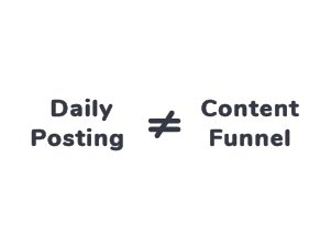 Daily Poasting is not equal to Content Funnel