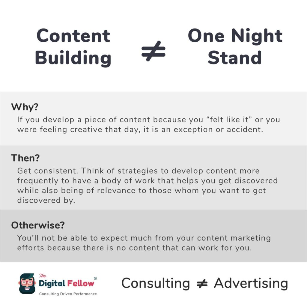 Content Building is not equal to One Night stand