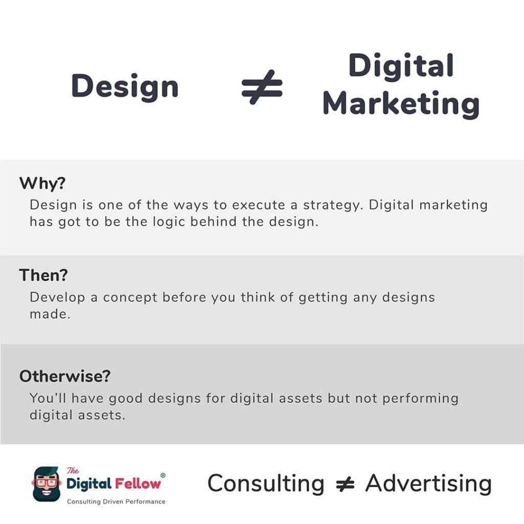 Design is not equal to Digital Marketing
