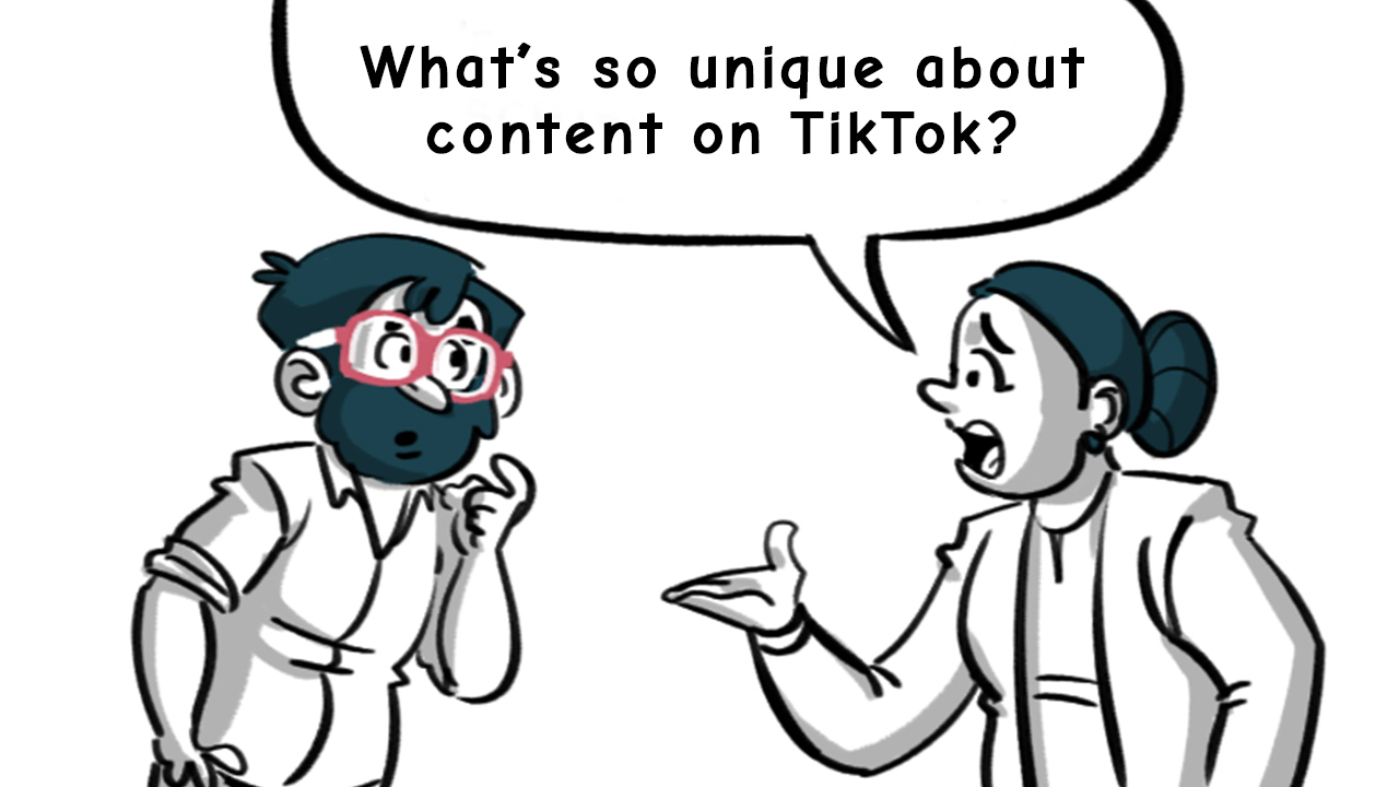 What's so unique about content on TikTok by thedigitalfellow