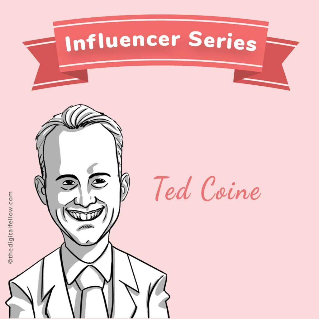 this is a caricature of Ted-Coine curated by the digital fellow
