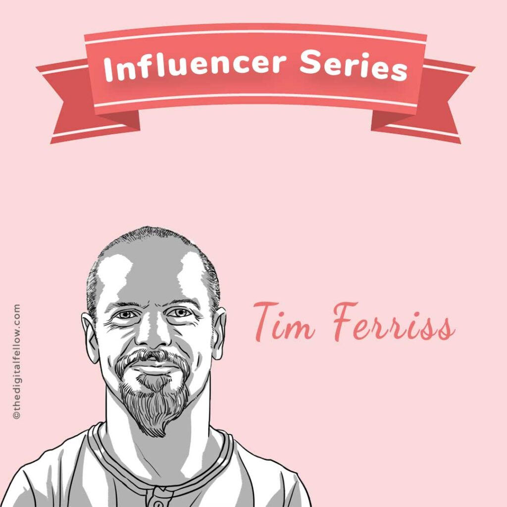 this is a caricature of Tim-Ferriss curated by the digital fellow