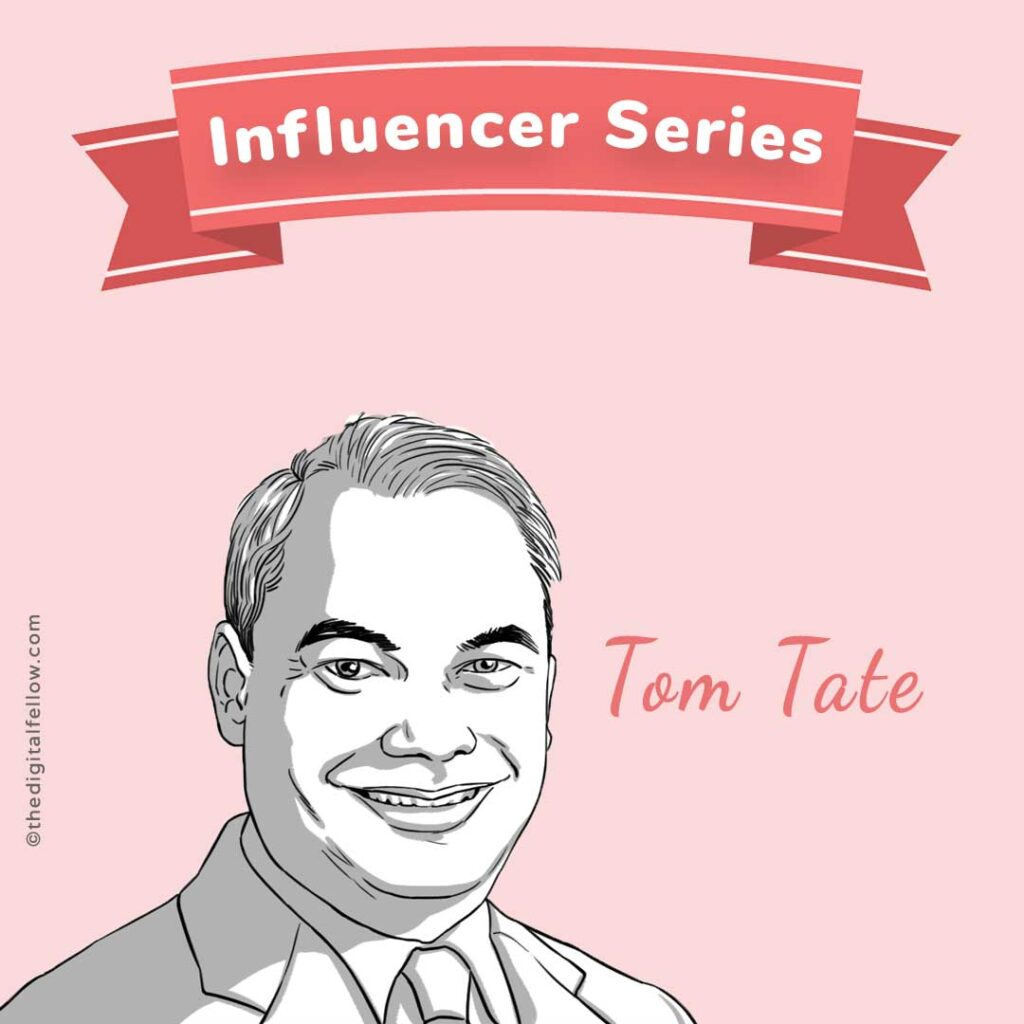 this is a caricature of Tom-Tate curated by the digital fellow