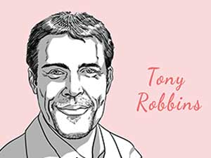 this is a caricature of Tony-Robbins curated by the digital fellow