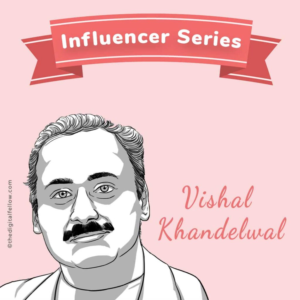 this is a caricature of Vishal-Khandelwal curated by the digital fellow