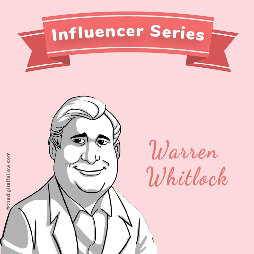 this is a caricature of Warren-Whitlock curated by the digital fellow